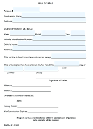 Best Photos Of Bill Sale Form Vehicle Free Template Word Image