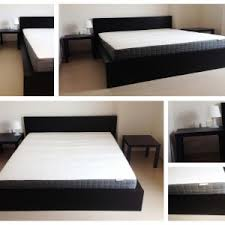 ikea malm bedroom furniture. malm bed frame with wooden material and black color also bedside table for modern ikea bedroom furniture