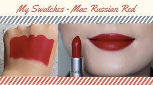 <b>mac</b> matte lipstick <b>Russian red</b> swatches. true swatches, no filters ...