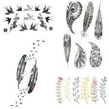2552 руб маленькая плюмажная хна временная татуировка индийские племена женщины