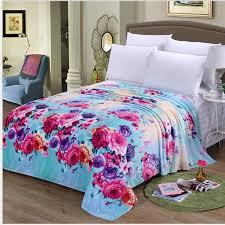 full size fleece blanket. Contemporary Full Blue Florals Flower Warm Microplush Soft Flannel Fleece Blanket Throws Twin FullQueen Intended Full Size