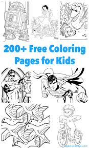 Printable Kids 200 Printable Coloring Pages For Kids Frugal Fun For Boys And Girls