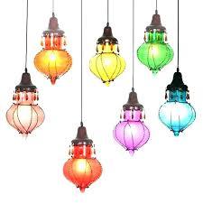 multi coloured glass pendant lights uk colored hanging color lamps chandelier