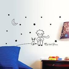 the little prince moon stars wall sticker art vinyl baby kids beroom decor wall decals