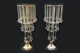 25 inch tall hanging crystal beaded chandelier candle flower holder tabletop centerpiece ohah