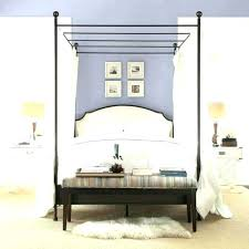 Twin Wood Canopy Bed Wooden Full Size White King Cherry – autophysics.co