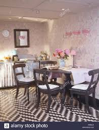 stenciled dining room black white zig zag floor and stencils i32 stencils