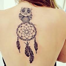 Simple Dream Catcher Tattoos Adorable Owl And Simple Dreamcatcher Tattoo