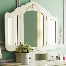 tribesigns french vintage ivory white vanity dressing table set makeup desk with stool mirror bedroom eco friendly environment home