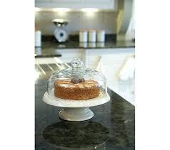 elegant ceramic cake stand with dome q1387098 kitchen craft classic collection ceramic cake stand with glass