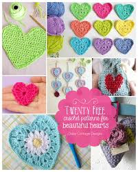 Free Crochet Patterns New Crochet Heart Pattern Collection Daisy Cottage Designs