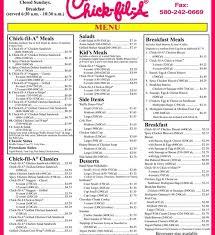 Chick Fil A Nutrition Chart Printable Bedowntowndaytona Com