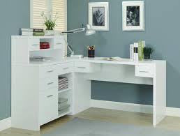 L Shaped Modern Desk Home Design Modern L Shaped Desk With Hutch Desks Pertaining To
