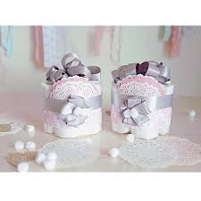 damask pink gray mini diaper cake baby shower centerpiece decoration baby girls room decor new mom unique gifts silver grey pink