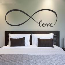 LH40 Love Infinity Symbol Couple Bedroom Personalized DIY Vinyl Magnificent Quotes For The Couples On The Ved