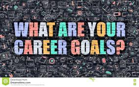 What Are Your Personal And Career Goals What Are Your Career Goals On Dark Brick Wall Stock