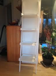 Weißes Holz Leiter Regal 4 Ebenen