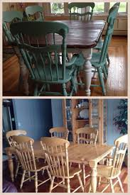 craigslist dining room chairs. Chalk Paint- Refinished And Old Craigslist Dining Room Set With Paint On The Chairs O