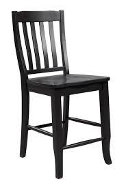 Quail Run Rake Back Wood Counter Stool DQT Dining Chairs