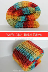 Waffle Pattern Crochet Simple Decorating