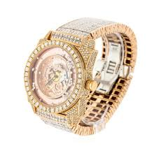 watch auction dunamis 18kt rose gold 52 00 ctw diamond men s watch auction dunamis 18kt rose gold 52 00 ctw diamond men s watch