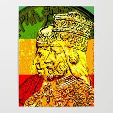 Haile Selassie Empress Menen Rasta Royalty Poster By Rasta