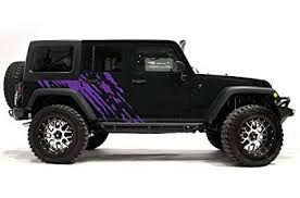 jeep wrangler 2007 2018 4 door splash graphics kit 3m vinyl