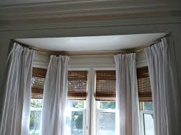 Image of: Outstanding Bay Window Blinds And Curtains Curtain Treatments  Intended For Bay Window Treatments