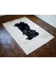 patchwork cowhide rugs black white patchwork cowhide rug 511 faux fur throws loading zoom