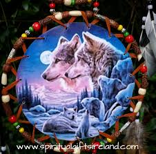 native american dreamcatcher wolf. Native American Wolf Dreamcatcher Extra Large Ring Lone With