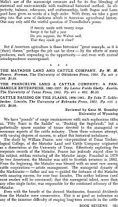 The Matador Land and Cattle Company. By W. M. Pearce. Norman, The  University of Oklahoma Press, 1964. Pp. xiv + 244. $6.00. | Business  History Review | Cambridge Core