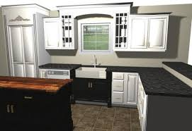 kitchens with black distressed cabinets. White Kitchen With Distressed Black Island And Sink Base Kitchens Cabinets C