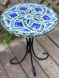 full image for small tile patio table small mosaic garden table blue mosaic table with mandala
