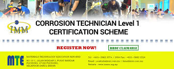 corrosion technician corrosion technician level 1 institute of materials malaysia