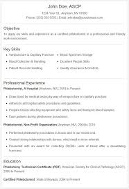 Phlebotomist Resume Sample Plus Downloadable Template Stand Out From