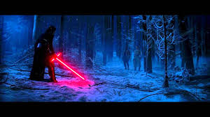 Lightsaber duel forest asian
