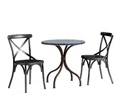 outdoor cafe table and chairs. Havana Tile Top Bistro Table + 2 X-Back Chairs Outdoor Cafe And