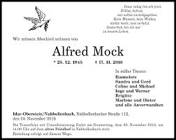 Traueranzeigen von Alfred Mock | rz-trauer.de
