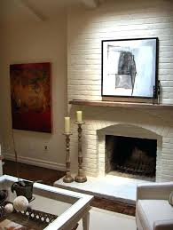 white brick fireplace white brick fireplace white mantel red brick fireplace