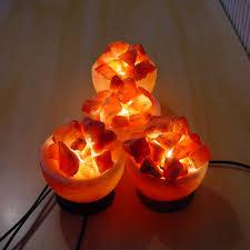 fire bowl salt lamp basket medium himalayan