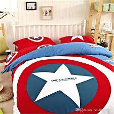 baby boy comforter set marvel avengers bedding cotton captain duvet set sports bedding for boys comforter sets