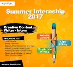 abtach summer internship creative content writer intern all abtach summer internship 2017 creative content writer intern