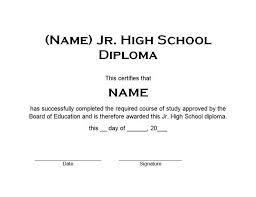 Diploma Wording Junior High School Diploma 1 Free Word Templates Customizable Wording