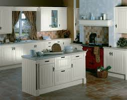 earthy kitchen floor tile ideas with white cabinets