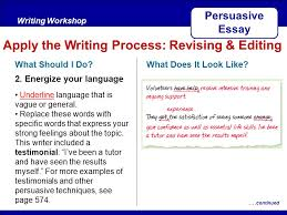 after reading key traits writing workshop persuasive essay  after readingwriting workshop apply the writing process revising editing persuasive essay what should i