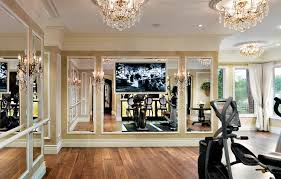 Fancy home gym wall mirrors