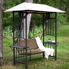 c coast bellora 2 person gazebo swing natural resin wicker hayneedle