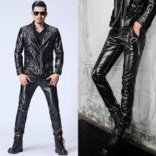 motorcycle faux leather pants men casual trousers pu feet pants for men fashion slim pantalon homme autumn korean from 2016 64 94 dhgate com