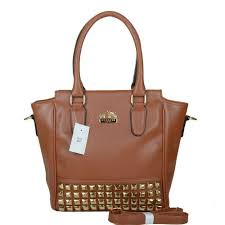 Coach Legacy Tanner In Studded Small Brown Crossbody Bags BNN