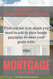 This Free Online Early Payoff Mortgage Calculator Will Calculate The